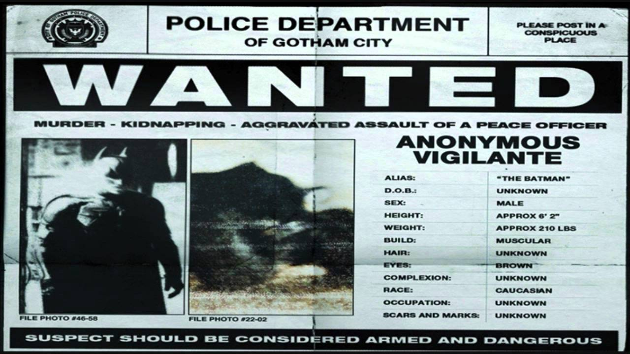 Batman Wanted Poster The Dark Knight Rises YouTube