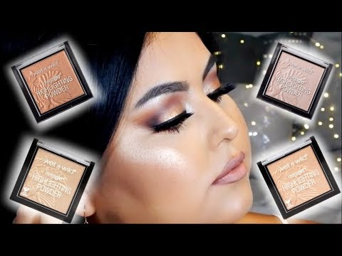 BEST $5 HIGHLIGHTERS EVER!   WET N WILD MEGAGLO HIGHLIGHTING POWDERS REVIEW + SWATCHES