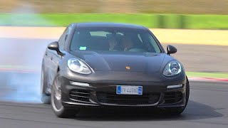 NEW PORSCHE PANAMERA DIESEL 300 CV 2015 - FIRST TEST ON TRACK DRIFT AND SOUND