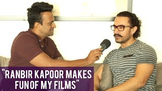 """Ranbir Kapoor was making fun of my films!"" says Aamir Khan"