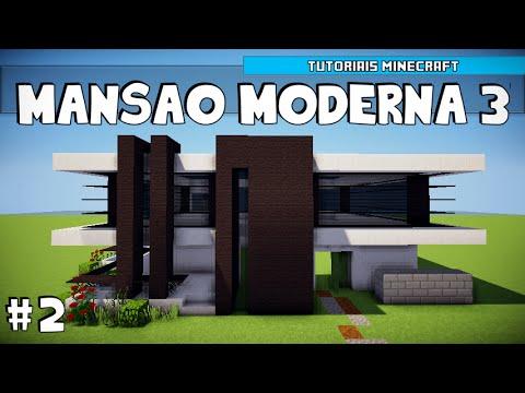 Minecraft como construir uma mans o moderna 3 parte 2 for Casa moderna 3 parte 2