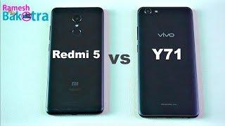 Vivo Y71 vs Redmi 5 Speed test, Camera and Charging Compare