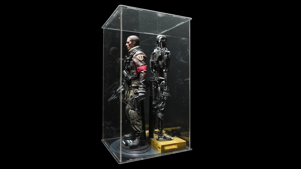 1 6 scale action figure display case with led light youtube. Black Bedroom Furniture Sets. Home Design Ideas