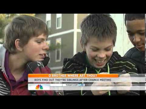 Boys Meet As Friends, Discover They Are Brothers. video