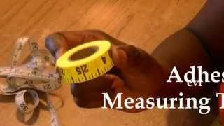 Adhesive Measuring Tape- 60 Second Sewing Secrets #19