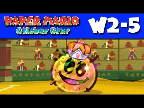 Paper Mario Sticker Star - Gameplay Walkthrough World 2-5 - Drybake Stadium (Nintendo 3DS)