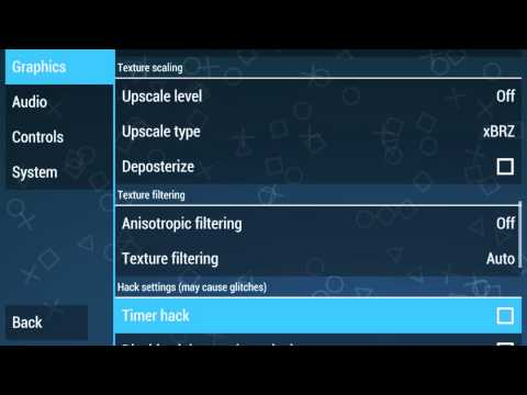 My settings for PPSSPP 0.9.8 (Best Performance)