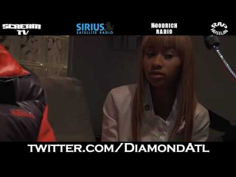 Diamond Disses onion Booty Song, Talks New Record W  Cee-lo W dj Scream On Hoodrich Radio! video