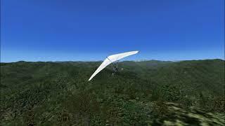 【fsx 】静岡市葵区 ダイラボウの頂上を シミュレーターでぐるぐる