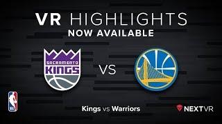 NBA in VR -  Kings VS Warriors VR Preview   NextVR