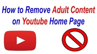 How to Remove Adult Content From Youtube Home Page | block content | in urdu
