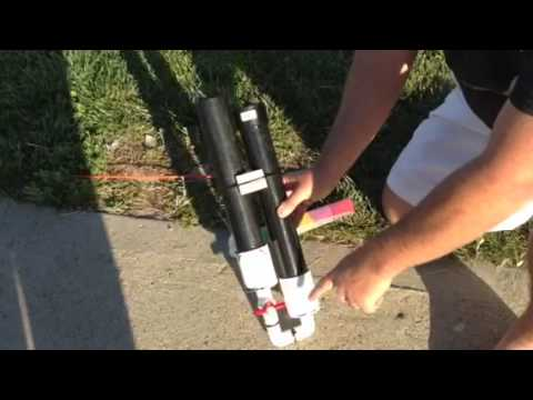 Homemade handheld confetti cannon
