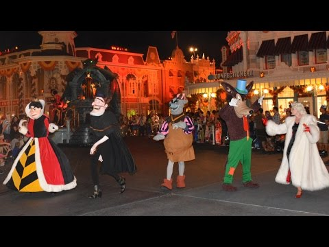Villains Finale of Boo-To-You Parade at Mickey's Not-So-Scary Halloween Party w/ Maleficent, Cruella