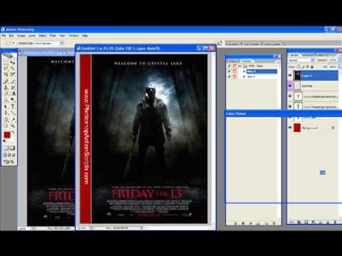 Friday The 13th Photoshop DVD Case Action Script
