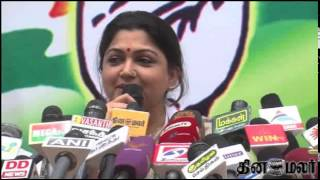 Actress Kushboo Happy in New Posting - Dinamalar March 25th 2015 Tamil Video News