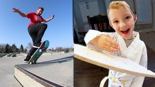 ADIML 59: KARATE TEST & SKATEBOARDING! (Finally)