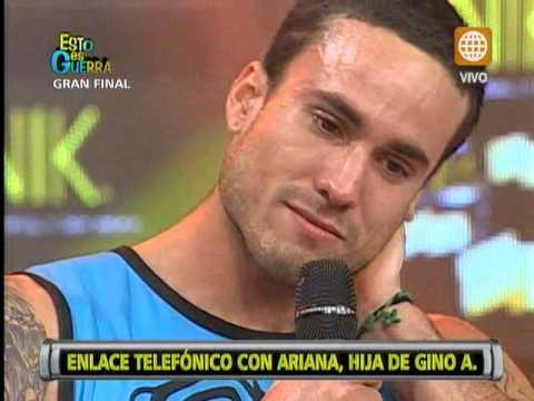 Esto es Guerra: Gino Assereto lloró al escuchar la voz de su hija Ariana