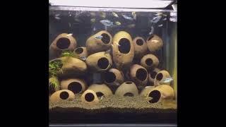 Stones Ceramic Aquarium Rock Cave Decoration Spawning Sites For Fish Shrimp Tank
