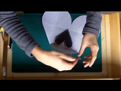 Cartão envelope-coração - Heart shaped envelope