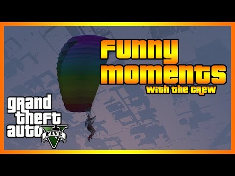 GTA 5 Online - Funny Moments with The Crew (Batman at the Beach, Car Wall Glitch  and More!) klip izle