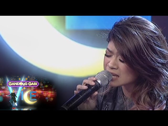 GGV: Mary Gidget Dela Llana sings on GGV stage