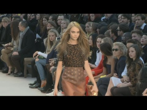 Burberry Show: Rita Ora, Cara Delevingne, Rosie Huntington-Whiteley and Tom O'Dell talk Burberry