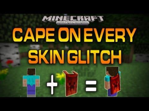 Minecraft (Xbox 360): CAPE ON EVERY SKIN GLITCH (How To)