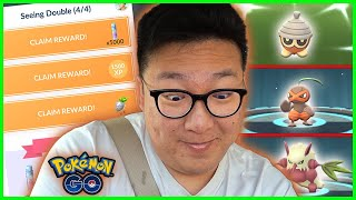 SEEDOT COMMUNITY DAY SPECIAL RESEARCH COMPLETED WITH 50+ SHINIES CAUGHT - Pokemon GO