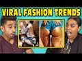 COLLEGE KIDS REACT TO VIRAL FASHION TRENDS (Glitter Booty, Clear Pants, Mud Jeans)