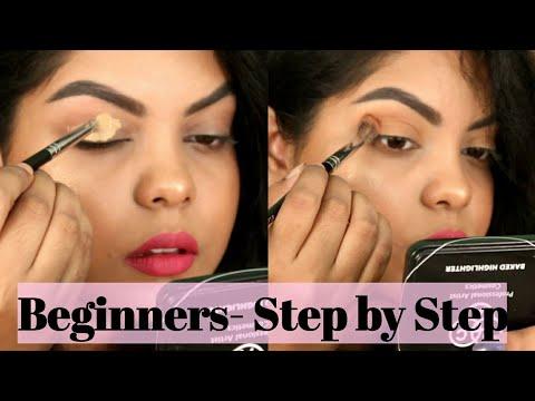 BEGINNERS-HOW TO APPLY EYE SHADOW STEP BY STEP| SOFT EVERYDAY EYE MAKEUP | KOLKATA INDIA