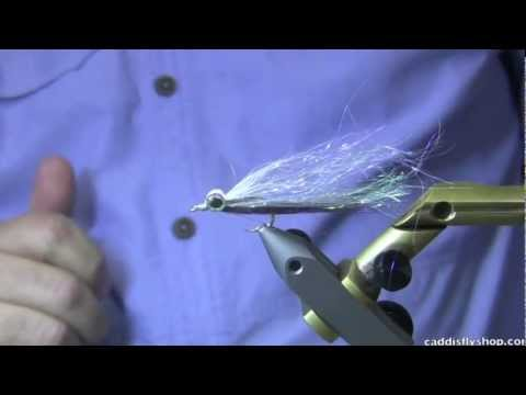Clear Cure Goo Clouser Minnow Baitfish Fly Tying Video