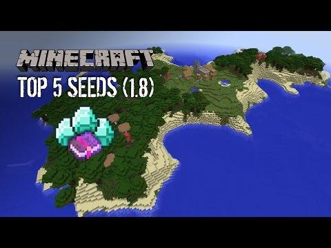 Top 5 Minecraft 1.8 Seeds: Survival Island Villages - 2014 (HD)