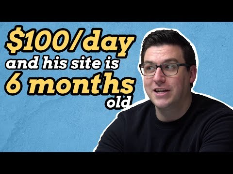 He's Earning $100/day from a Simple Niche Site (Success story)