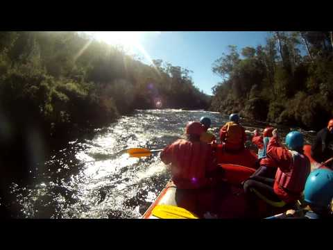 Rafting the Mersey River - First Drop