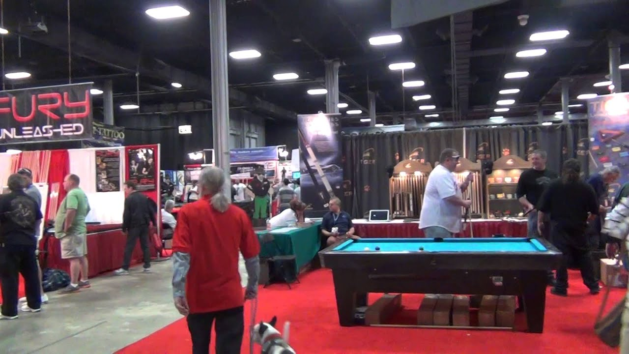 Super billiards expo 2013 entry youtube for Pool expo show