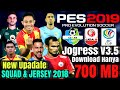 Download PES 2019 Jogress V3.5 Mod Gojek Liga 1 & 2 Indonesia & Afc Cup Asia   Game Savedata Texture