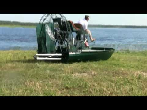 Power Pole Shallow Water Anchor Test Video (Airboat)