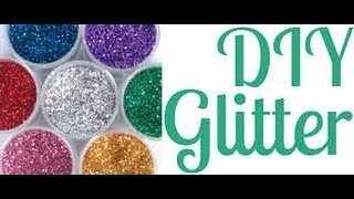 DIY: How to make Glitter / Colored sand substitute