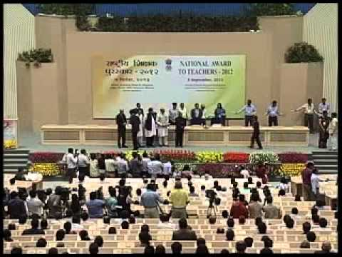 President Pranab Mukherjee greets teachers; presents national awards to teachers