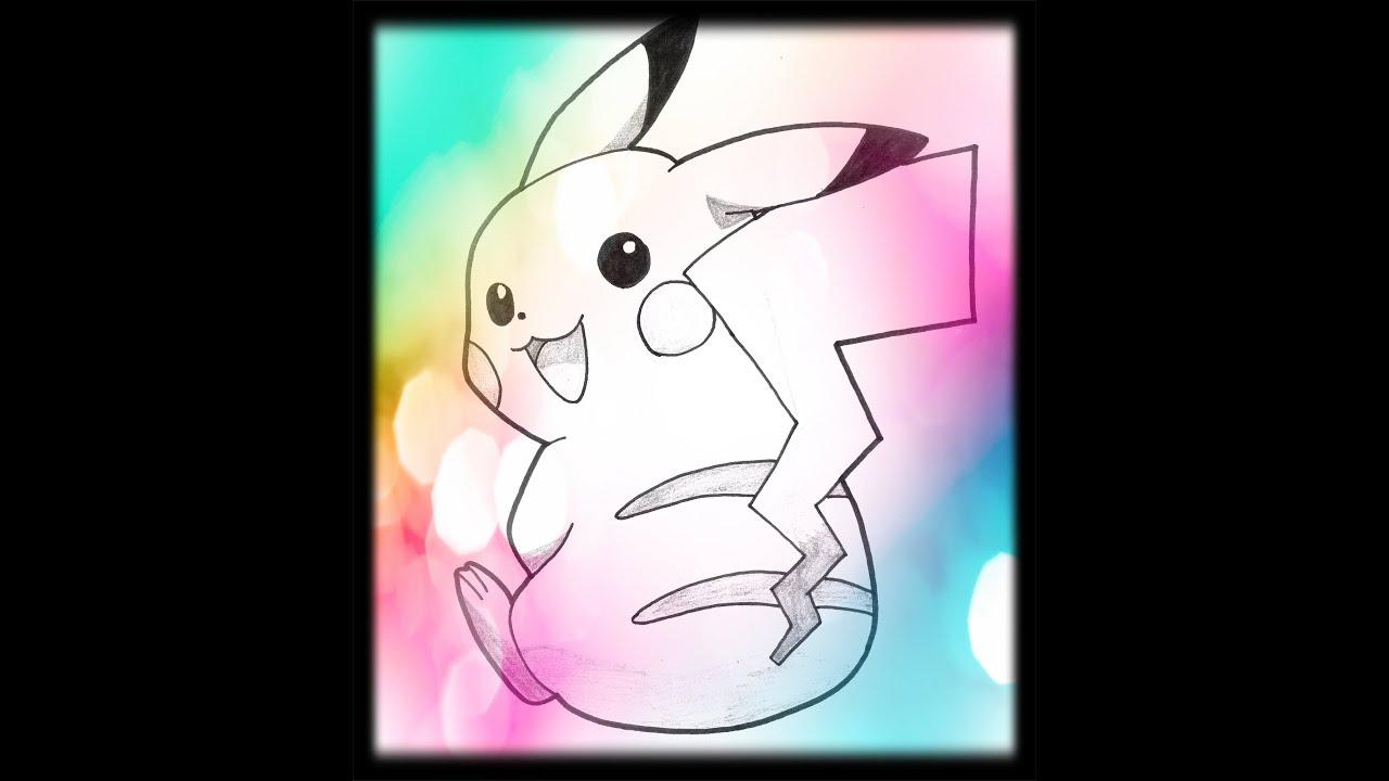 Dessin de pikachu dans pokemon youtube - Dessin de pikachu ...