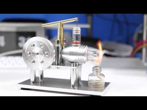 SunnyTech Hot Air Chrome Stirling Engine SC02 Demonstration and Review