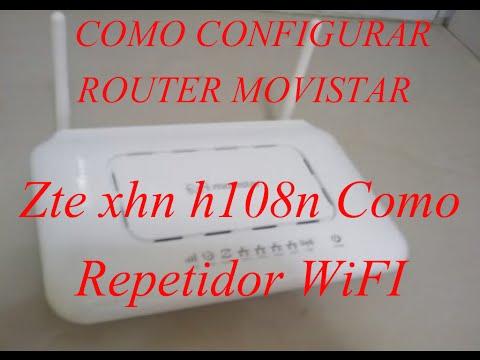 Como Configurar Router Zte xhn h108n Como Repetidor WiFi