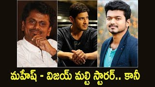 Murugadoss Wants to Make Multistarrer Movie With Vijay and Maheshm Babu