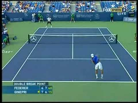 Cincinnati 08: 2R Rog v Ginepri (Highlights Pt 3)