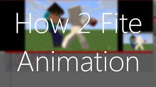 The Tan James's Mine-imator 1.0.0 Tutorial - Fighting and Reaction