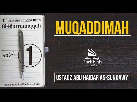 Muqaddimah (Penjelasan Al-Jurumiyyah) #1