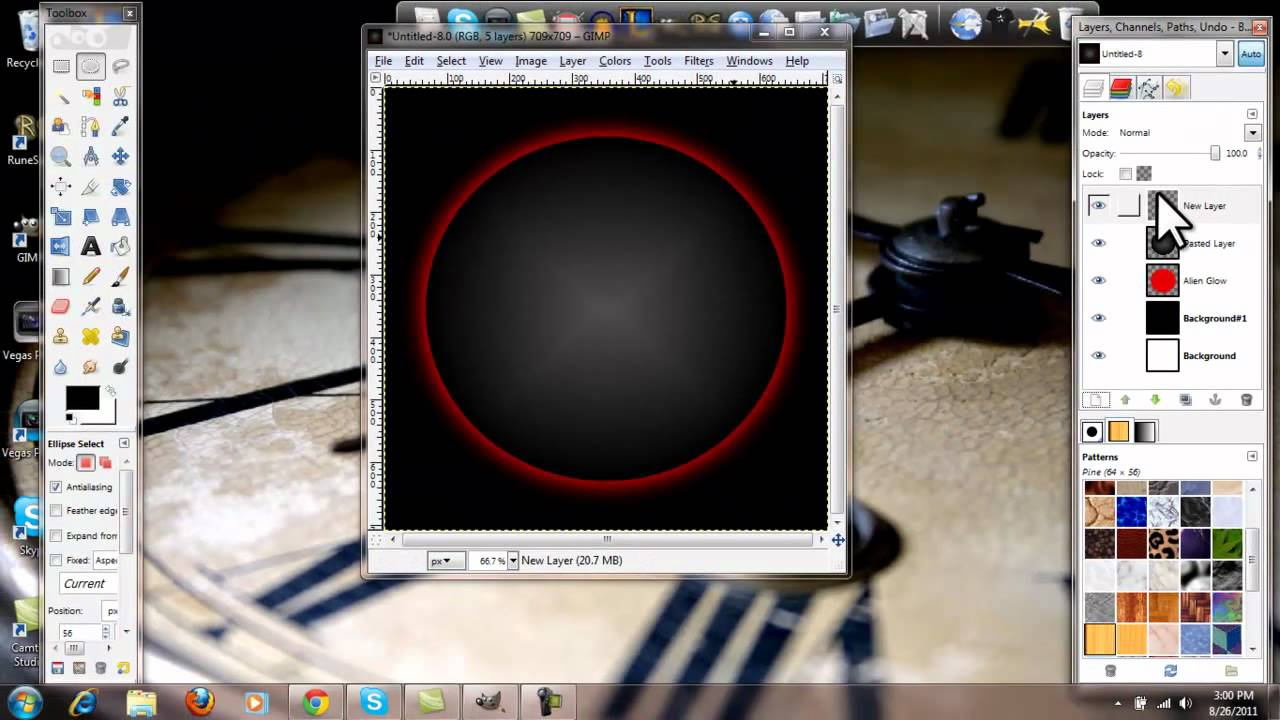How to design logo in gimp