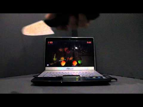LEAP Motion Controller Fruit Ninja KNIFE Demo on Windows 8