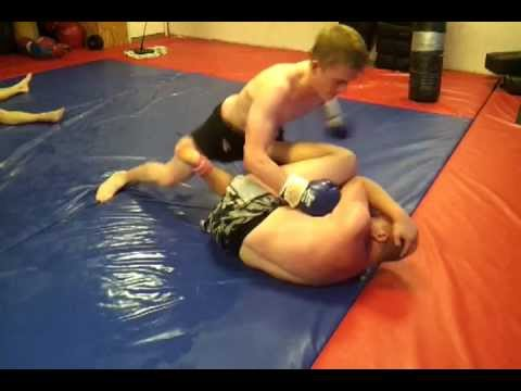 Full Contact Shark Tank Ground and Pound Training for Pitbull MMA Fighter Jacob Bradley Image 1