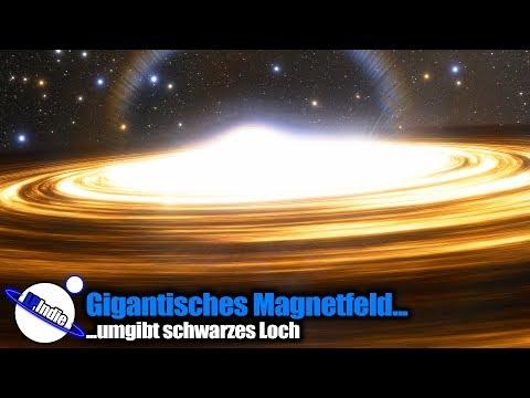 Gigantisches Magnetfeld umgibt schwarzes Loch